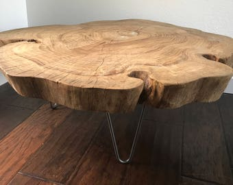 Natural Raw Edge Reclaimed Wood Table