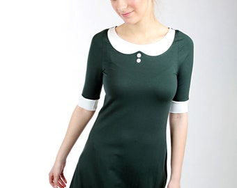 "MEKO ""Bon"" dress A-line collar green ladies"