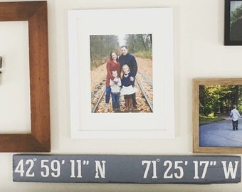 Latitude & Longitude Sign | Personalized Coordinate sign | Home Address Sign | GPS Coordinates | Gift