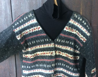 1990s 100% Pure New Wool Cardigan
