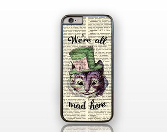 We're all mad here Cheshire iPhone 6/6s case-iPhone 6 plus case-iPhone case 5/5S -Galaxy S5 case-Galaxy S6-by Natura Picta-NP133