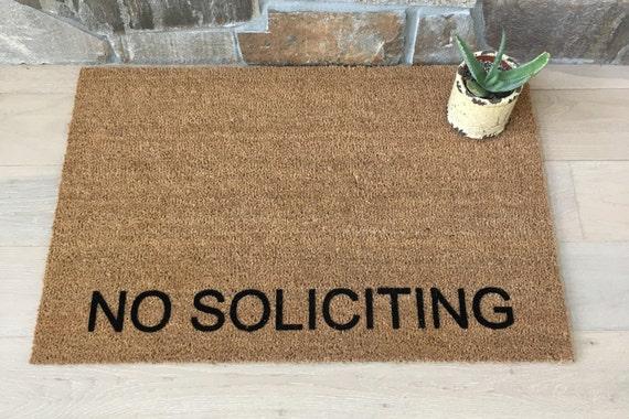 Exceptional No Soliciting Doormat / Welcome Mat / Custom Doormat / Door Mats / Business  Doormat / Unique Door Mat / Entry Doormat / No Soliciting Please