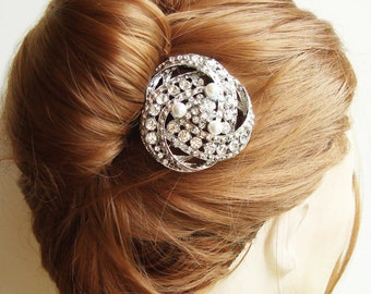 Vintage Bridal Hair Comb, Art Deco Wedding Hair Accessories, Bridal Headpiece, Wedding Hair Comb, LOIS
