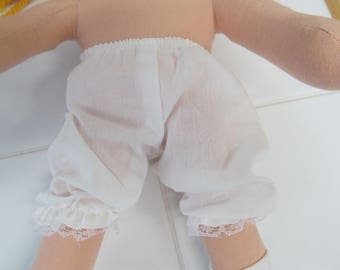"""Pantie Bloomers for 12"""" Doll or American Girl Doll"""