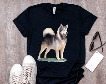 Watercolor Husky Dog Shirt | Cute Pets Lovers T-Shirt | Siberian Husky Tshirt | Husky Mama Gift | Husky Dad Ruff Life | Mother of Huskies