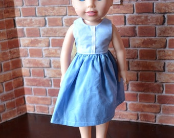 14.5 inch Doll Clothes - Everyday Princess Dress - Ella - Wardrobe Staple - Small Doll - fits Wellie Wisher Dolls - MADE TO ORDER