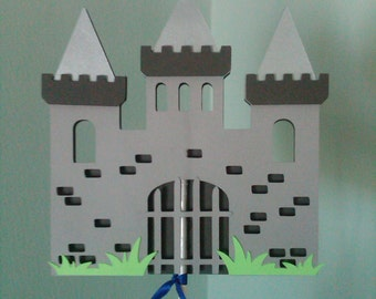 Medieval Castle Centerpiece Topper or Cake Topper