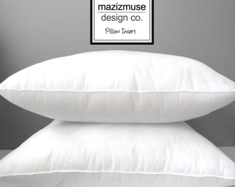 "24"" Outdoor Poly-Fill Pillow Insert - Outdoor Pillow Form - Hypoallergenic - Synthetic - Purchase with Mazizmuse Pillow Covers Only"