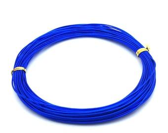 x10m aluminum diameter 1 mm, electric blue: FA0017