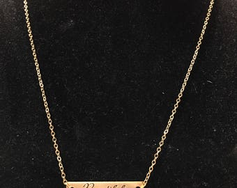 Gold, 'Beautiful' pendant necklace