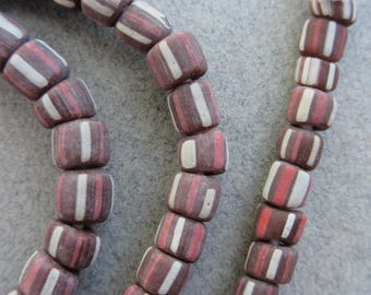 Brown Striped Gooseberry Beads [67300]
