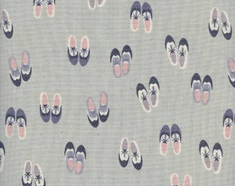 Cotton + Steel Panorama Cloud - Oxford in Rainy Day - Gray Shoes Fabric - Unbleached Quilting Cotton Fabric by the Yard