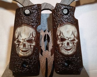 Kimber Micro 380 1911 Grips with Skull