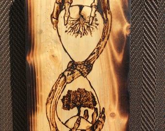 Handburned Woodburning - Pyrography // Art // Unique // Sands of Time