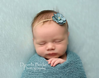 Light Teal Free Shipping! Newborn Stretch Knit Wrap - Ready to Ship Wraps, open weave stretch knit wrap