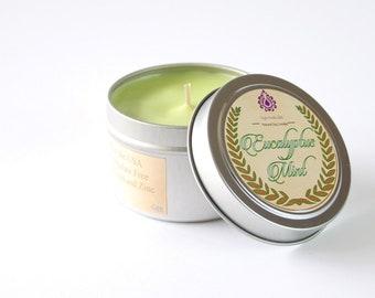 Eucalyptus Mint - Natural Soy Candle - 4 oz