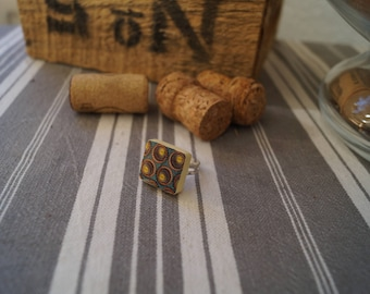 Scrabble Peacock ring