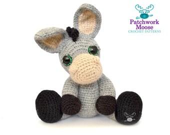 Donkey Amigurumi Crochet Pattern PDF Instant Download - Dylan