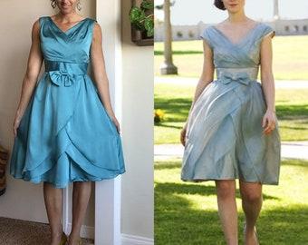 Zooey Deschanel 500 Days of Summer blue dress wedding bridesmaid