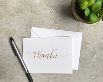 Thanks Greeting Card Set - Thanks - Congrats - Celebrate