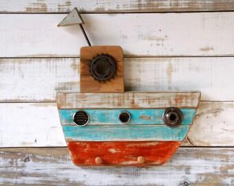 Boat Wall Coat Rack