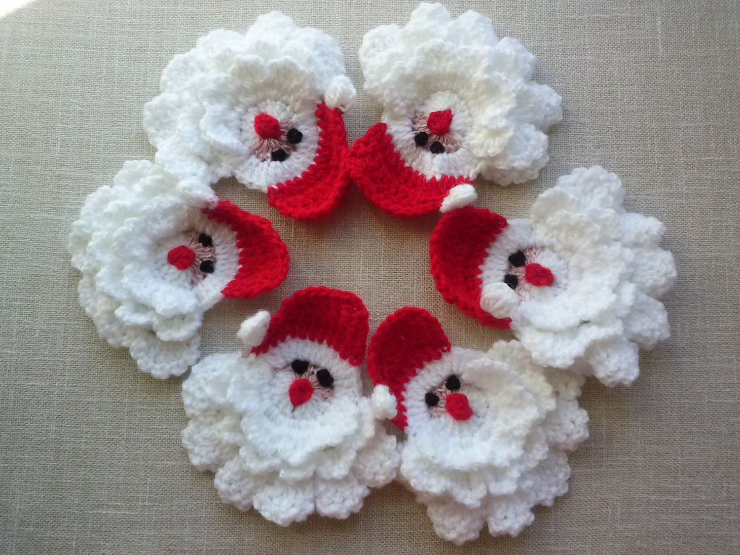 Crocheted Christmas Gnome Crochet Christmas Decoration Set