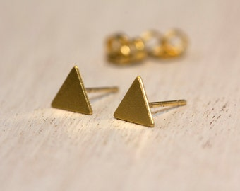Triangle Earrings, Gold Triangle Earrings, Triangle Stud Earrings, Geometric Earrings, Geometric Stud Earrings, Dainty Earrings For Women