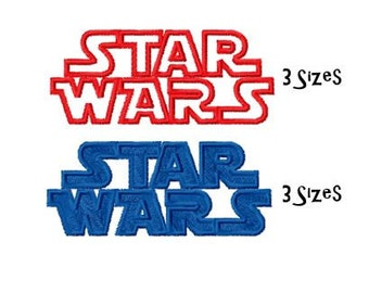 Starwars Machine Embroidery Design, Instant Download, 2 Designs, 3 Sizes, PES Format