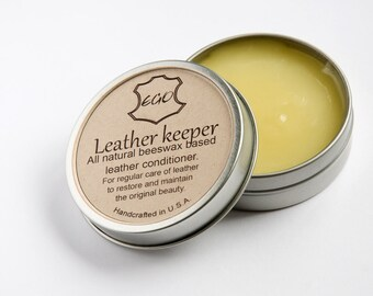 All natural beeswax based leather conditioner