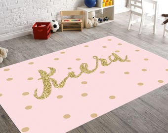 Nursery Decor Nursery Rug Rugs For Nursery Kids Rugs Gold