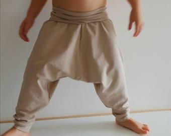 Organic Harem Pants - Baby Harem Leggings - Organic Baby Leggings - Toddler Harems - Hipster Baby - Toddler Gift - Beige Harem Toddler Pant