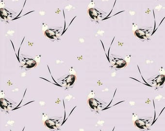 Scissor-Tailed Flycatcher Poplin 100% Organic Cotton by Birch (Western Birds Collection)