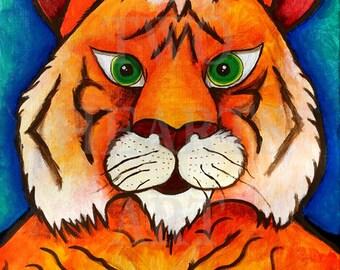 Tiger art, Giclée Art Print, Wall Hanging, Art Decor, wall art, home decor, kids room art, nursery decor, baby gift, unique gift