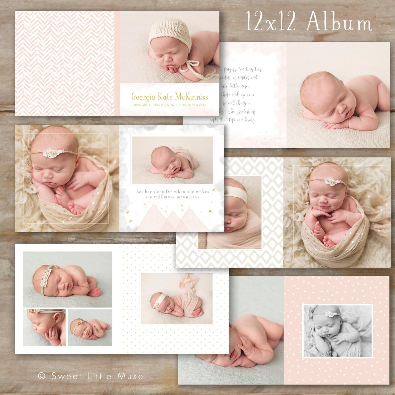 Baby-Album-Vorlage für Fotografen Baby-Foto-Buch-Vorlage