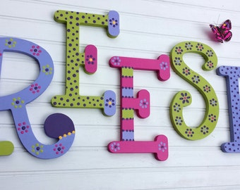 Kids Name Letters - Nursery Letters - Childs Name - Whimsical Font