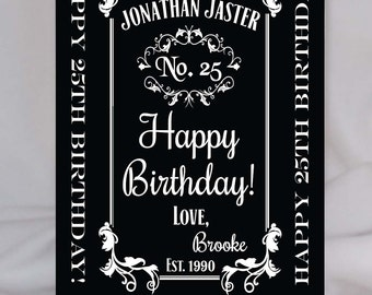 Happy Birthday Personalized Whisky Bottle Label, Custom Birthday Gift, Custom Label for Whisky Bottle, Personalized sticker