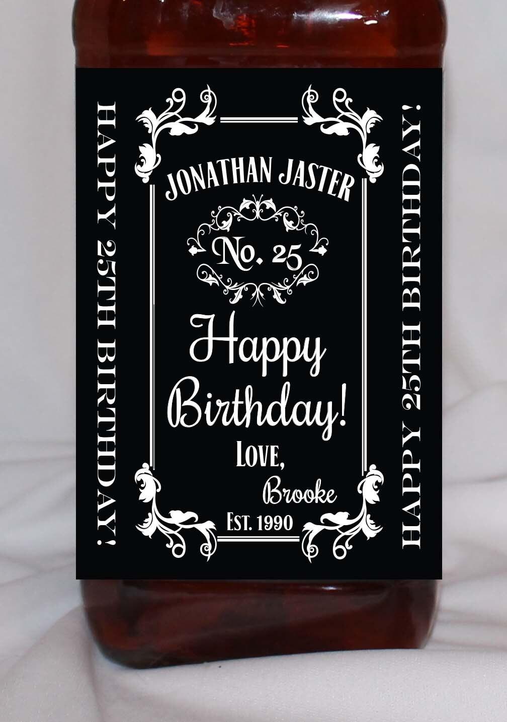 Feliz Cumplea Os Personalizado Whisky Etiqueta De La Botella # Muebles Para Guardar Whisky