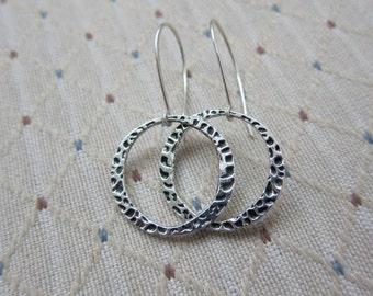 Textured Large Hoop Earrings