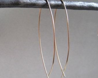 Gold Simplicity Earrings - Hoop Earrings - Dangle Earrings