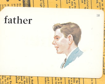 FATHER/father's day/dad/Vintage Vocabulary Flashcard
