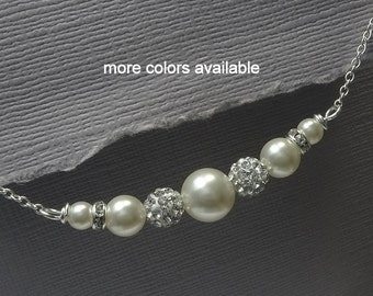 Maid of Honor Gift. Pearl Necklace, Choker Necklace, Pearl Choker, Mother of the Bride Jewelry,  Mother of the Groom Jewelry, Gift for Mom