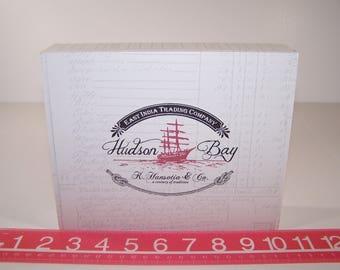 Empty Cigar Box Solid Wood Hudson Bay Balsam White Box