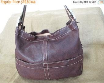 15% OFF SALE Vintage brown leather shoulder bag Vin Baker USA handmade