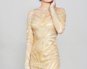 2018 Gold Wedding Dress, Chic wedding dress, Deco Wedding dress, Wedding gown Sleeves, occasion Wedding Dress, Color Wedding Dress, Bridal