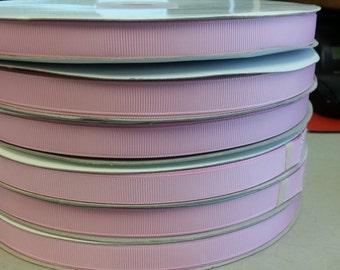 Overstocked Wholesale Price - 100 yard spool 3/8 Inch Grosgrain Ribbon in Powder Pink