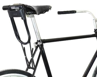 Bicycle U-Lock Holster - Black Leather