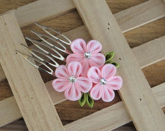 Hair Accessories-Hair Combs-Comb-Flower Girl-Kanzashi Flower- Kanzashi-Women's Hair Accessories-Wedding Accessories-Gifts for Her