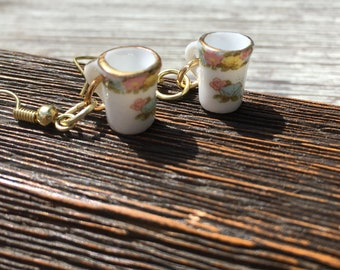 Miniature Dolls House CHINA MUG EARRINGS