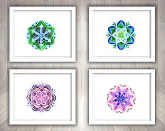 Watercolor Mandala clipart, Mandala clipart, Mandala picture, Watercolor mandala, Printable mandala, Digital mandala, Mandala print,Download