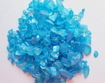 Beach Wedding Decor Aqua Sea Glass Chips, Bulk Seaglass, Nautical Beach Glass Chips, Aqua Sea Glass, Blue Beach Glass, Aqua Beach Glass - 2#